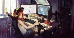 vivian james playing star citizen by softmode