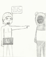 No Panda Suit for Hidan by MaiShark