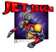 Jet Jaguar - June 2012 Sketch-a-Day 08 by JeremiahLambertArt