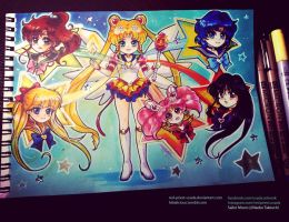 Chibi Sailor  Scouts by Red-Priest-Usada