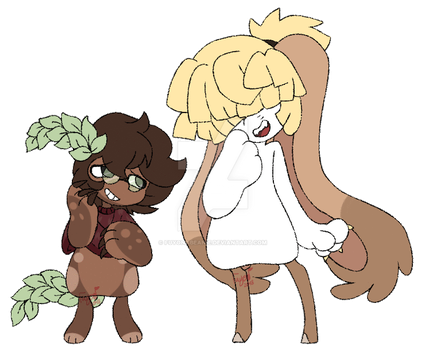[Commu/GIF] Mother and Daughter by FuyonaBeanie