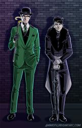 Gotham Penguin and Riddler by Ammotu