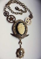 Anatomical steampunk necklace by Pinkabsinthe