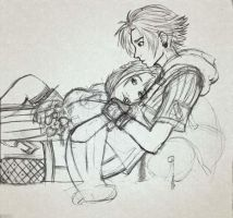 Yuna and... Tidus by Jessami