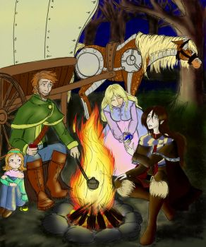 VHD campfire Colored by E1L0n3wy
