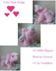 Ballet Slippers OC Plush Filly by Clestival