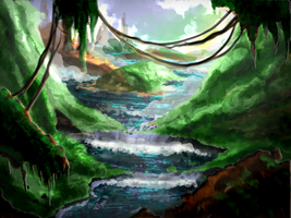 Rain Forest Speedpaint 2 by JRTribe