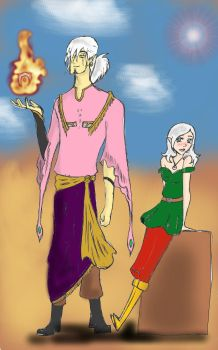 Malador and Torenn by TheDemonofDesire