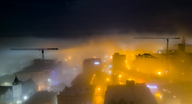 Town on Fire by defacedlawngnome