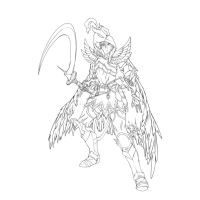 Commission - Warlord 1 (outline) by KlaudSan