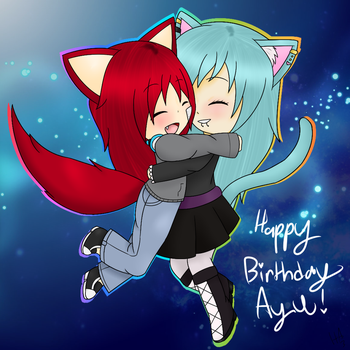 [Gift for SleepingAyumu] Happy Birthday!!! by Huffie-Artist