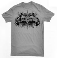 Graham Wrestling Winged Tribal Shirt by robertllynch