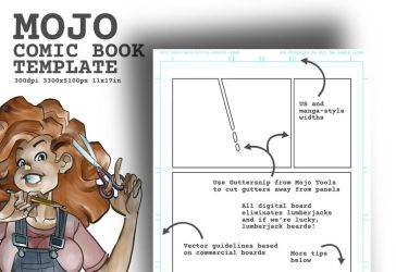 Mojo Comic Book Template for Krita by ezsaeger