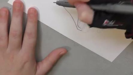 Art Time Lapse - Inking Lady of August Pin Design
