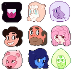Free Use Steven Universe Icons by xNighten