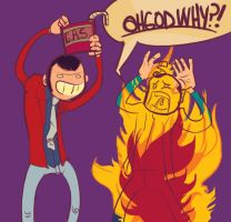 LUPIN SETS PEEPL ON FIRE D: by tentaclees