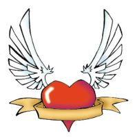 Tattoo Flash: Winged heart by connorobain