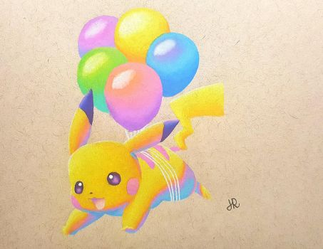 Balloon Pikachu by JennyyLovee