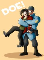 Doe's hug by Menaria