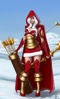 LoL: winter Ashe by 7guineapig7