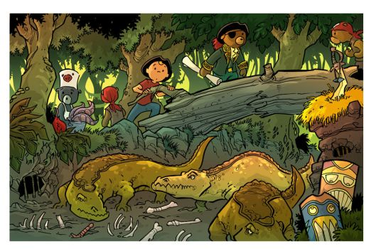 walking with crocs... Treasure Hunters Page 8 by travisJhanson