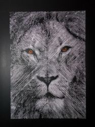 Paper Cutting-Lion by paperJin