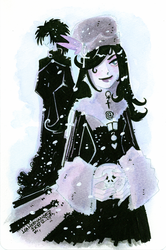 Death and Sandman in Snow by DivaLea