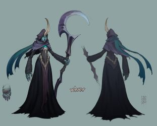 League of Legends - Reaper Soraka skin by MinohKim