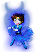 Michael/Mercury Chibi for JATGProductions by MagickDream