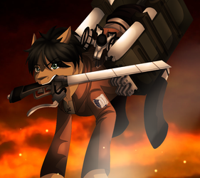 Eren Jaeger by SkyBluewing