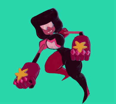 Quick garnet drawing by The-Elusive-Cat