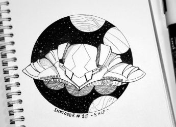 - [Inktober 2017] Day 25 : SHIP - by Adween-art