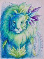 Feathered Lion by Leafwhisper44