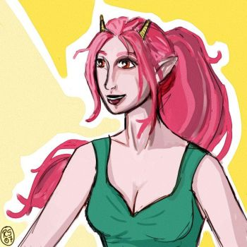 Pink Hair by Liathe