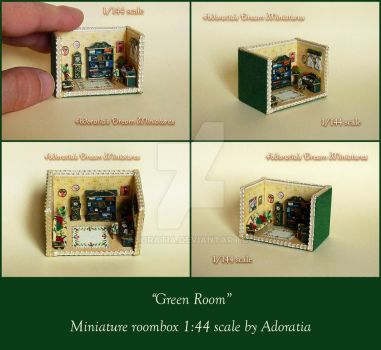 Green Room, Miniature 1/144 scale by Adoratia