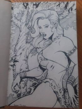 Jungle Girl from the lil sketch book. :) by RodneyCJacobsen