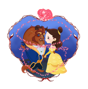 Beauty and the Beast, Cutie Couple by MadEye01