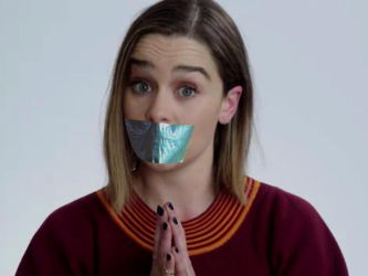 Emilia Clarke Tape Gagged by SilentBeauties