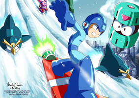 Snow Board ( Megaman 8) by innovator123