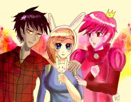 Marshall,Fiona and Prince gumball by Whitealone