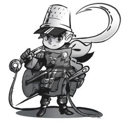 Tiniest Musketeer Second - Notinktober Day 12 by Lucky-Trident