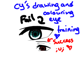 Drawing and colouring eyes training by kencchi