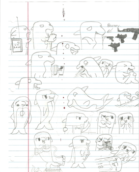 Bubbles and Jetstream sketch dump (2013) by AquaPicture