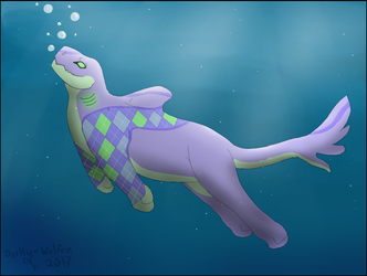 Lovely day for a swim. by Dorky-Wolfen