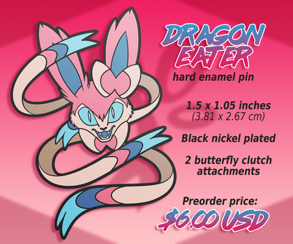 Dragon Eater Enamel Pin (PREORDER) by AdriOfTheDead