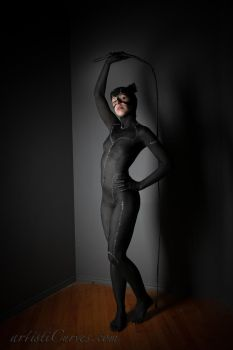 Catwoman body paint- Me-ow by shelle-chii