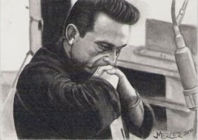 Johnny Cash sketch card by jenchuan
