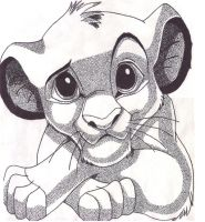 Simba Pointillism by Sunshiny-Disposition