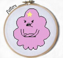 LSP Lumpy Space princess cross stitch pattern by JuliefooDesigns