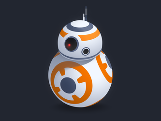 BB-8 Droid! by Pixel-Sage